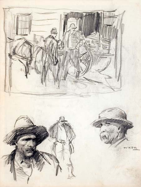 477: W H D Koerner (1878-1938) Drawing