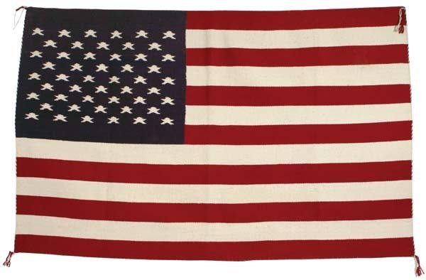 479: Patriotic American Flag Navajo Rug