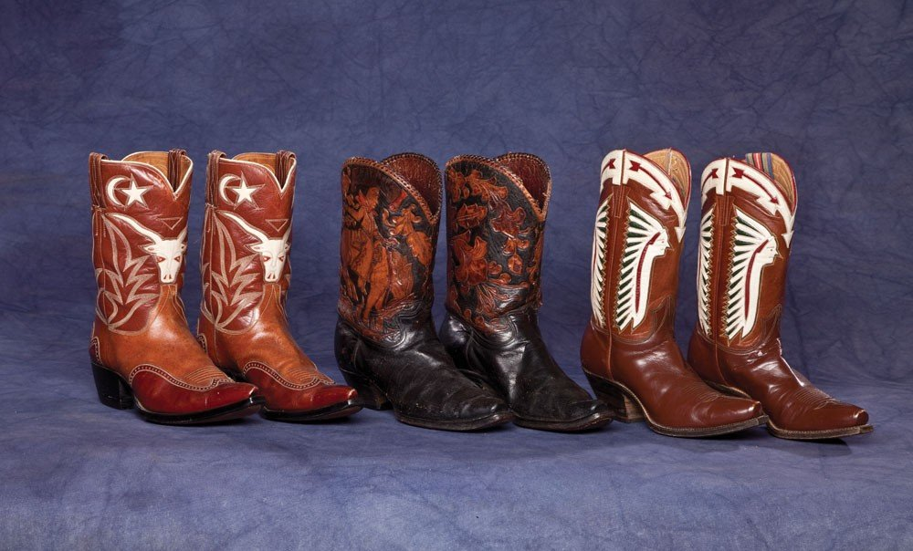 1: Three pair of fancy Cowboy Boots