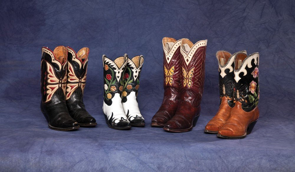 2: Lot of Four (4) Butterfly and Flower Boots