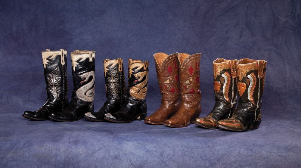 3: Lot of Four (4) Pairs of Fancy Cowboy Boots