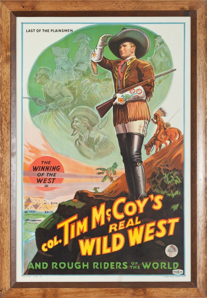 1: Lithograph Poster - Col. Tim McCoy's Real Wild West