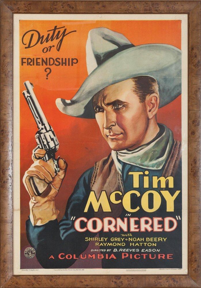 "2: Tim McCoy in ""Cornered"" Movie Poster"
