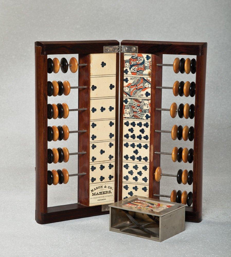 22: Mason & Co. Faro Casekeeper and Dealing Box