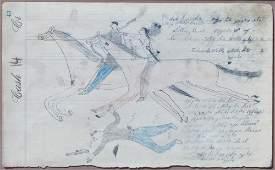 148: Ledger Drawing by White Bull