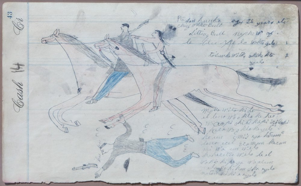 148: Ledger Drawing by White Bull