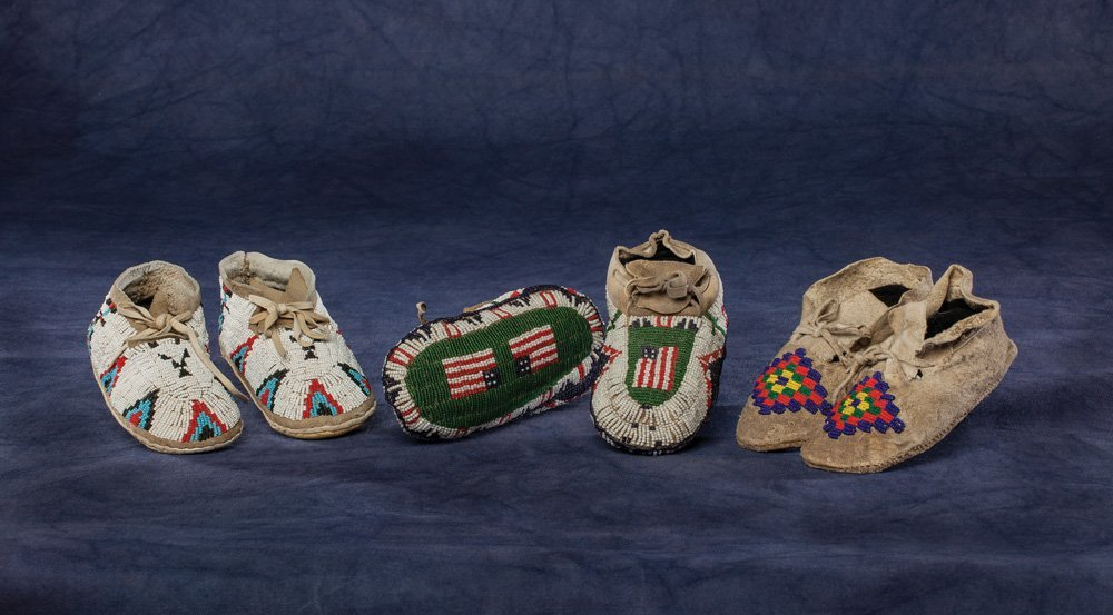 Three Pair of Child's Moccasins