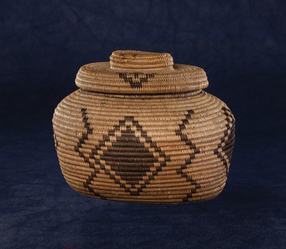 Apache Lidded Basket