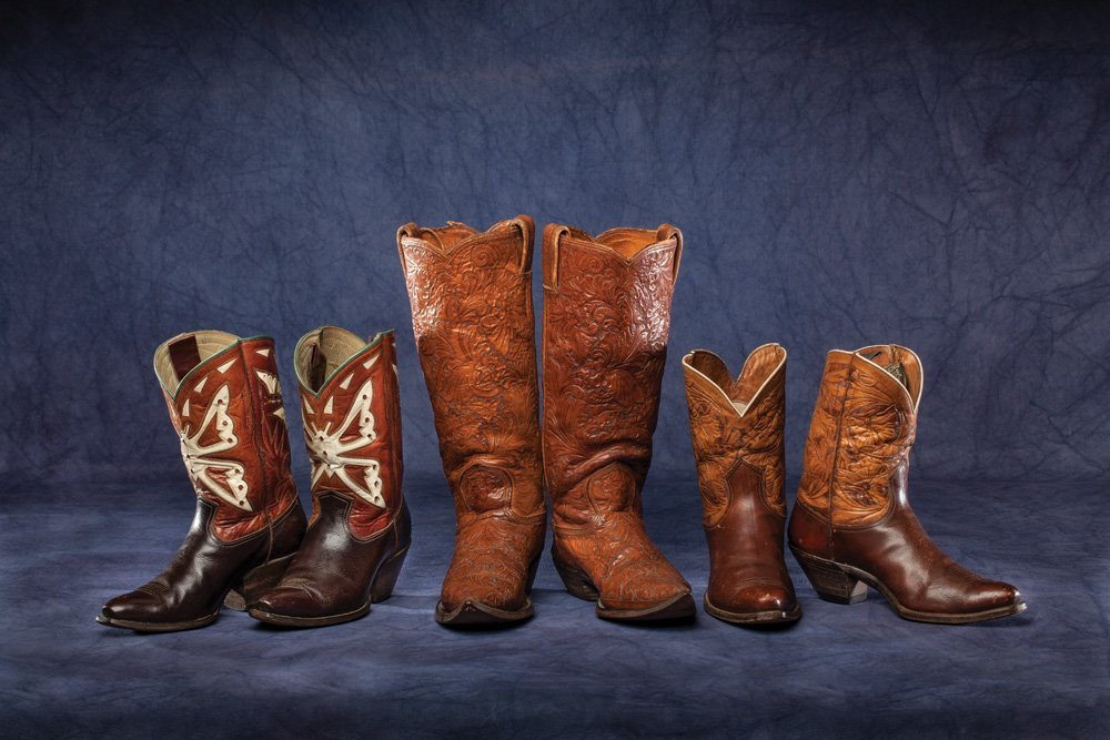 Three Pair Vintage Cowboy Boots