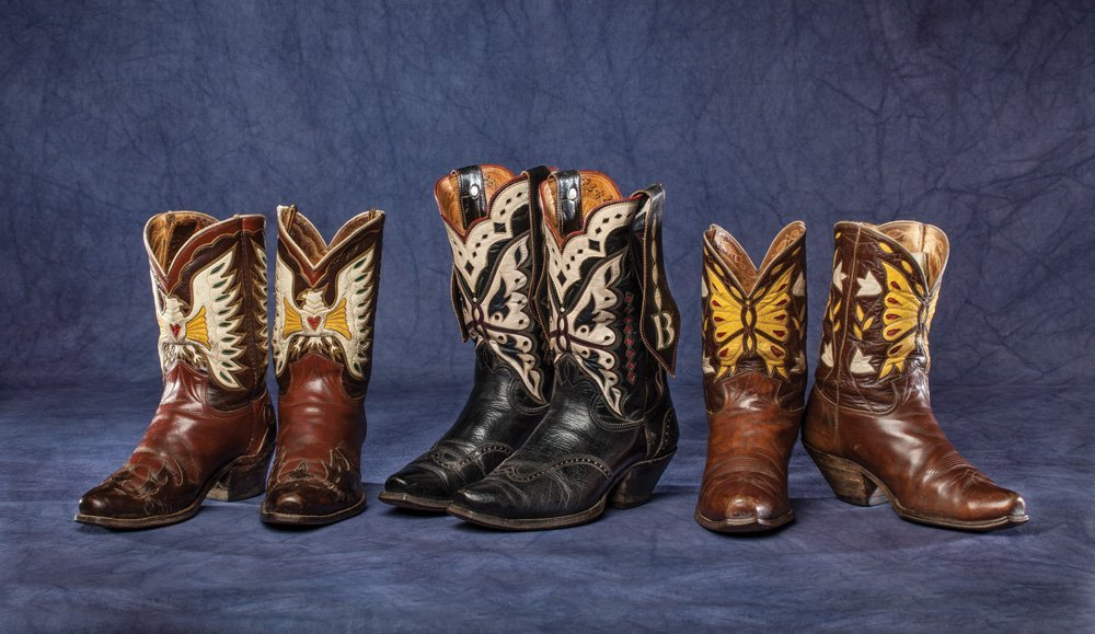 Three Pair Cowboy Boots