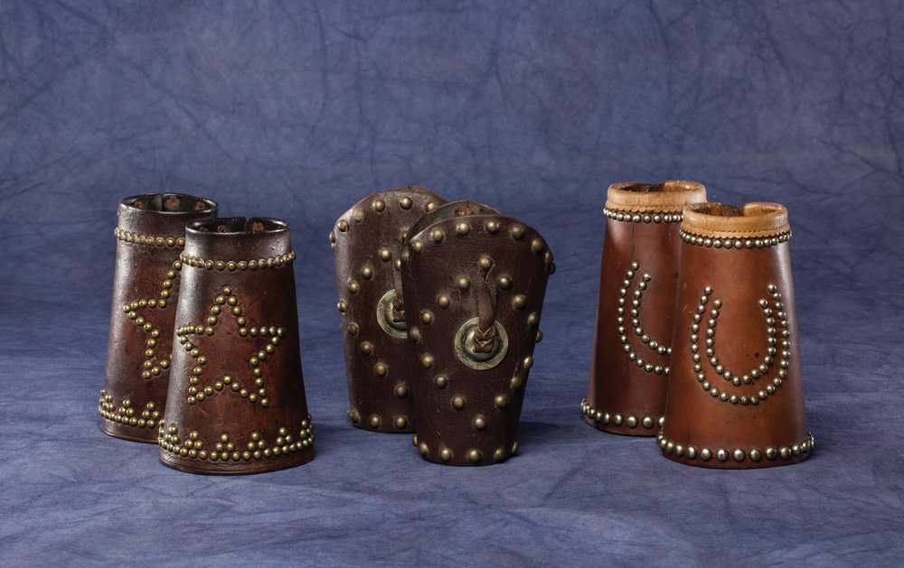Three Pair Studded Cowboy Cuffs