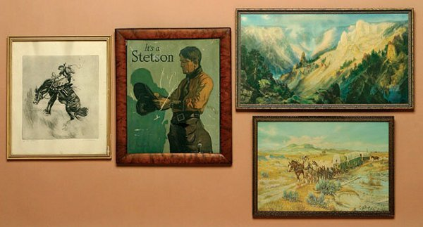 7: Lot of 4 Framed Miscellaneous Western PRINTS