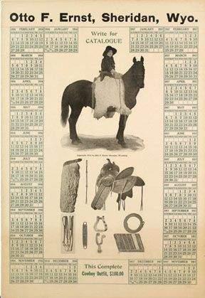 Otto F. Ernst, Sheridan, Wyo Calendar Poster