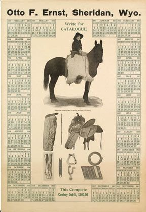 8: Otto F. Ernst, Sheridan, Wyo  Calendar Poster