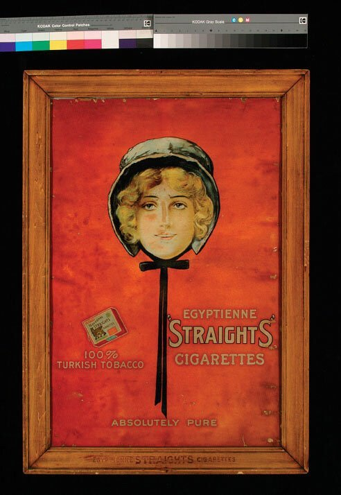 """11: Egyptienne """"Straights"""" Cigarettes Advertising"""