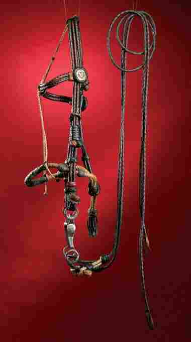 Braided two-tone leather BRIDLE & BOSAL