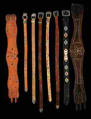 Collection of studded and rhinestone jeweled belts