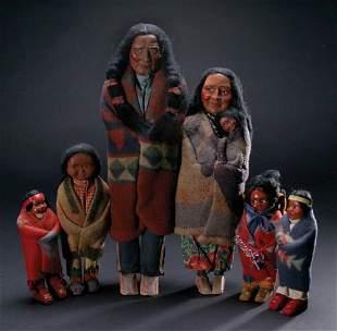 Collection of Skookum Dolls