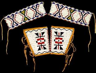 Two pair of Sioux Beaded CUFFS