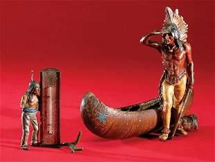Lot of 2 cast Decorative Indian Pieces