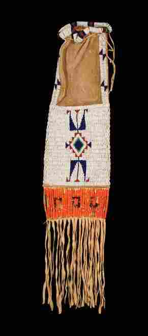 Sioux Beaded on Hide PIPE BAG