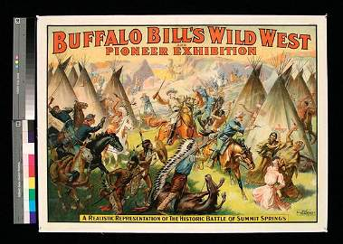 "171: Rare Wm F. Cody ""Wild West"" Poster"