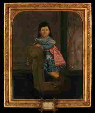 ADM Cooper oil painting of Lavinia Warren