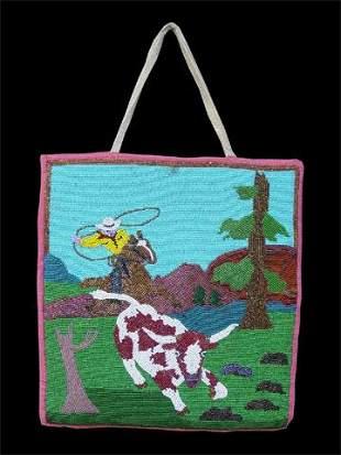 Nez Perce beaded Flat bag