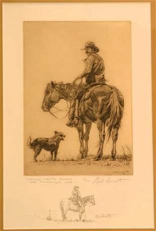 Bob Coronato dry point etching