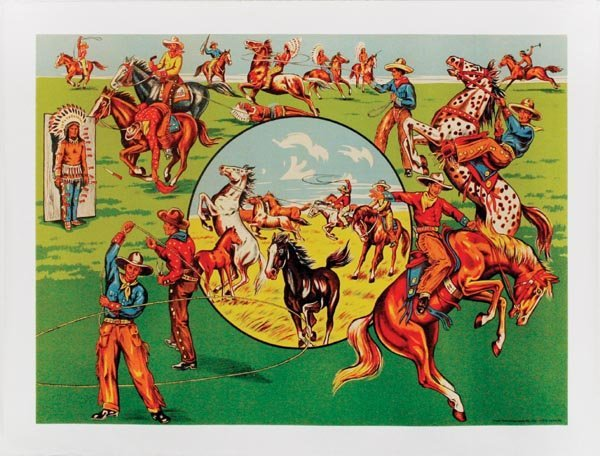 8: Colorful Wild West Lithograph