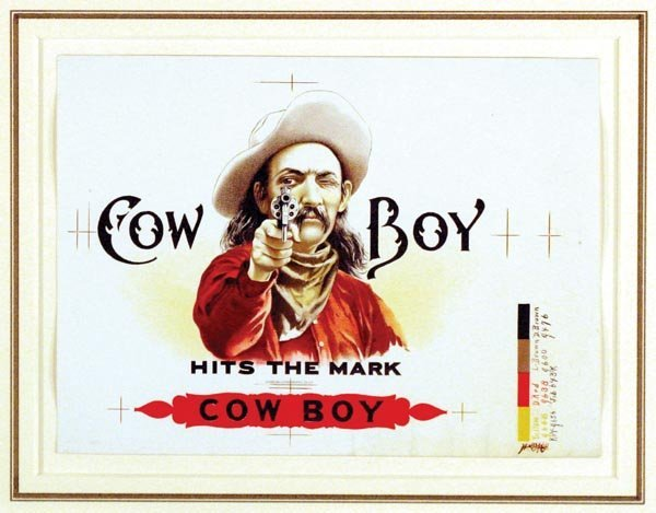 9: Two Vintage Cigar Box Paper Labels