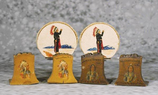 12: 7 Pr Wooden Western Bookends
