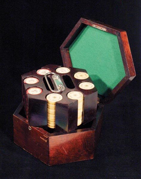 208: Great Rack of Ivory Poker Chips