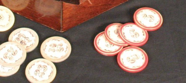 208: Great Rack of Ivory Poker Chips - 4