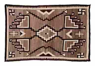 242: Fine Storm Pattern Navajo Rug