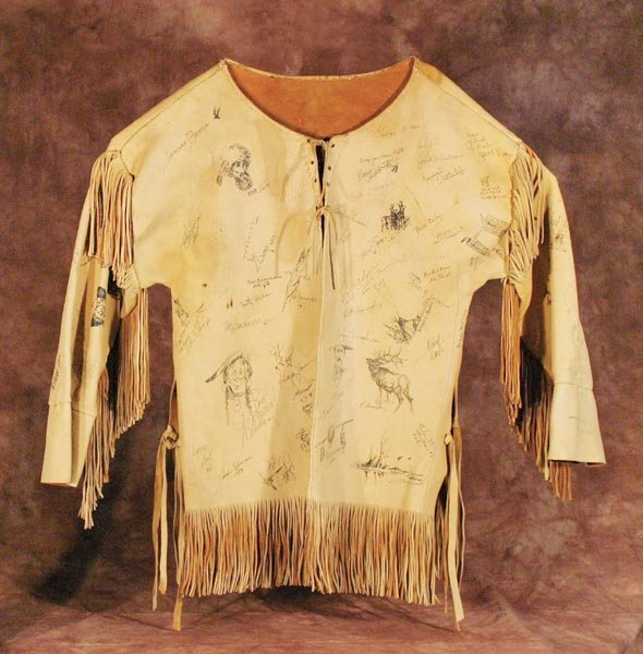 517: Elk Hide Shirt with Original Art