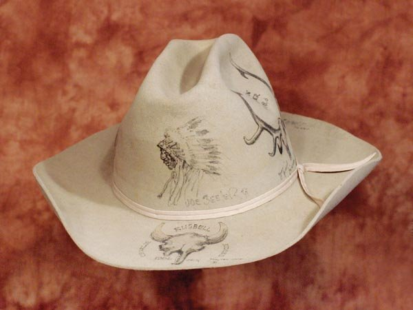 520: Charlie Russell Riders Pictorial Hat