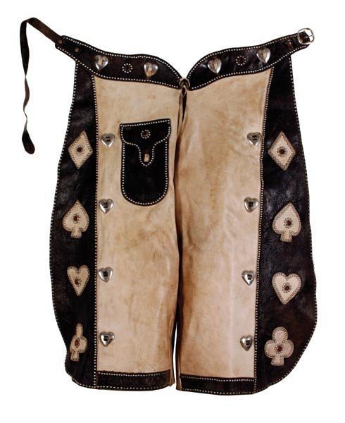 524: Striking Kids Studded Card Suit Chaps