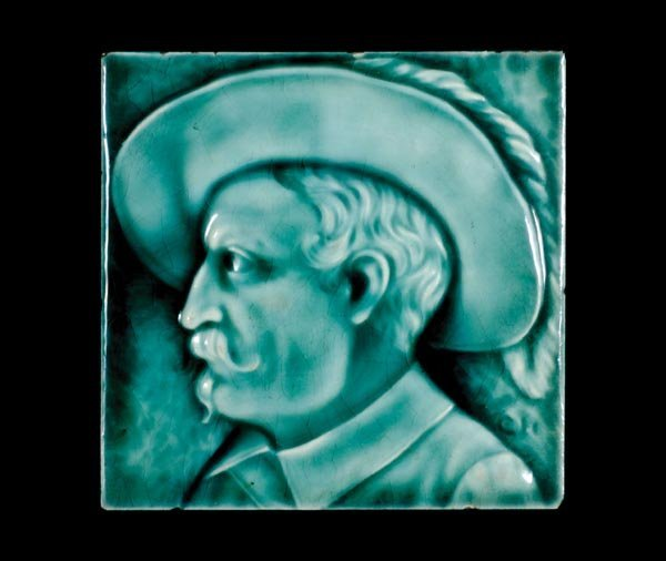 525: Original 1910 Buffalo Bill Ceramic Tile