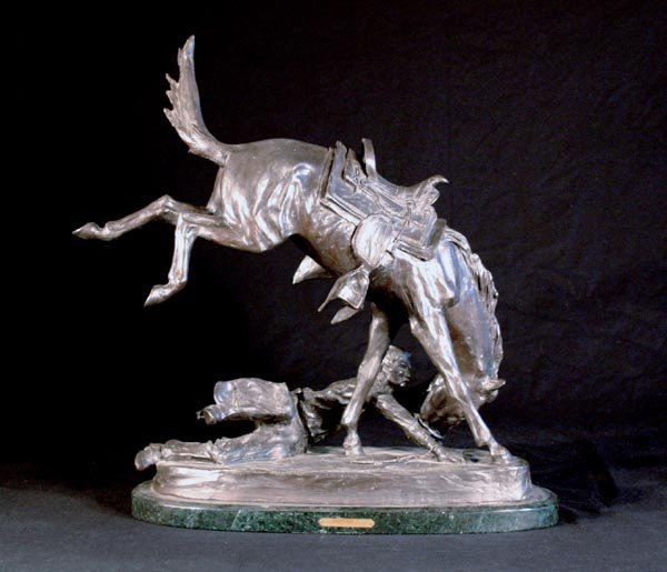 527: Frederic Remington Bronze Sculpture The Wicked Pon