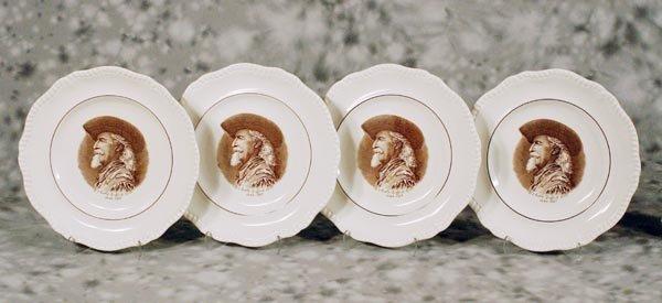 """538: Set of 4 """"Buffalo Bill"""" Dinner Plates"""