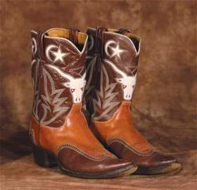 540: Vintage Texas Longhorn Boots