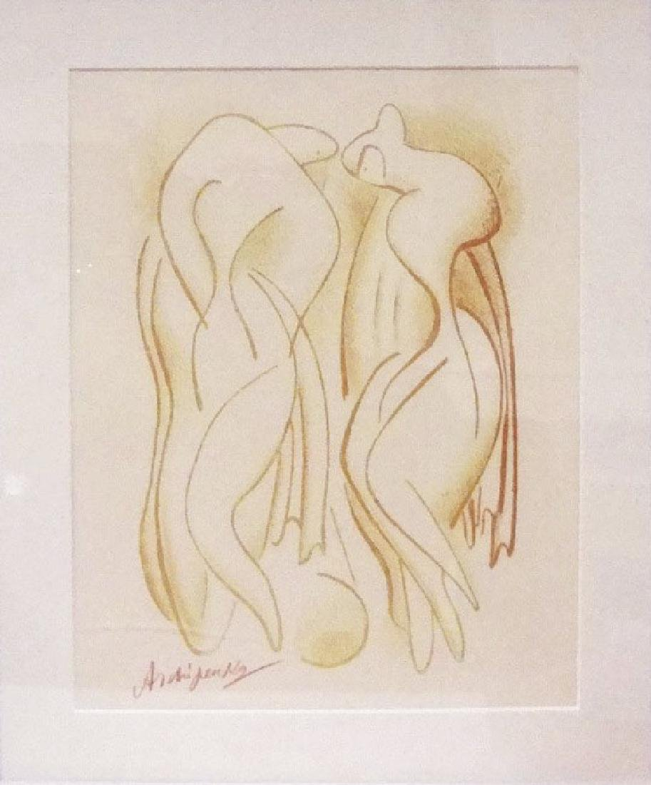 ALEXANDER ARCHIPENKO Lithograph Title Bather's