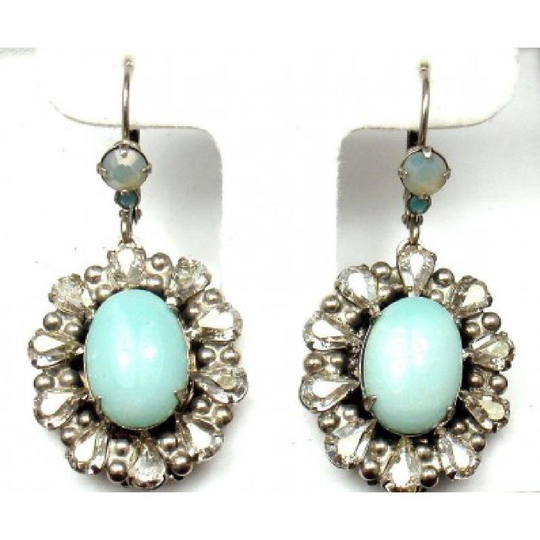 ESTATE AEGEAN SEA SORRELLI CRYSTAL DROP EARRINGS