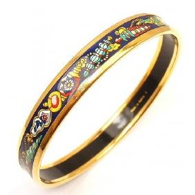 HERMES ENAMEL PERFUME BOTTLE BANGLE BRACELET