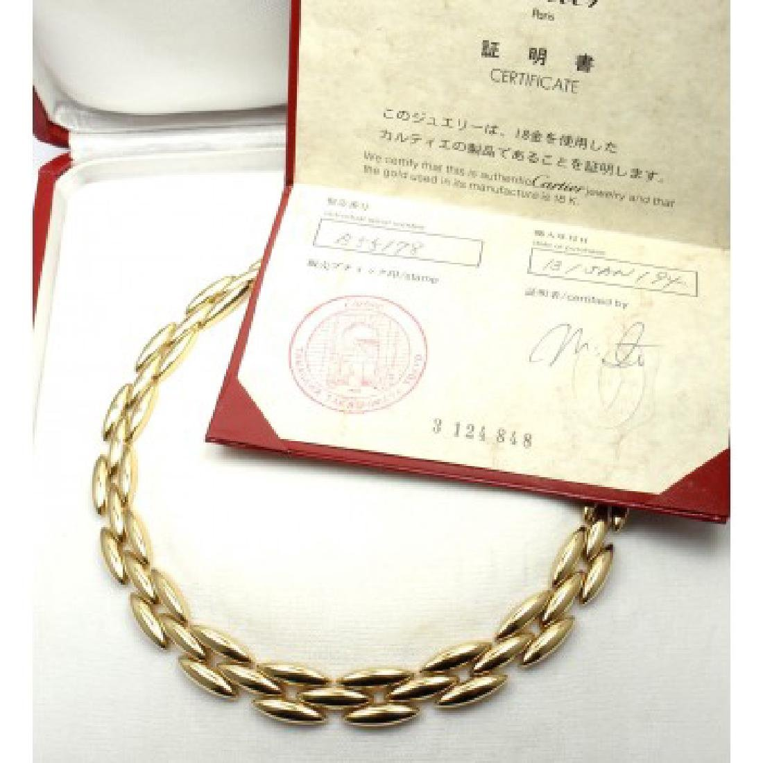 CARTIER GENTIANE 18K THREE ROW RICE LINK NECKLACE - 2