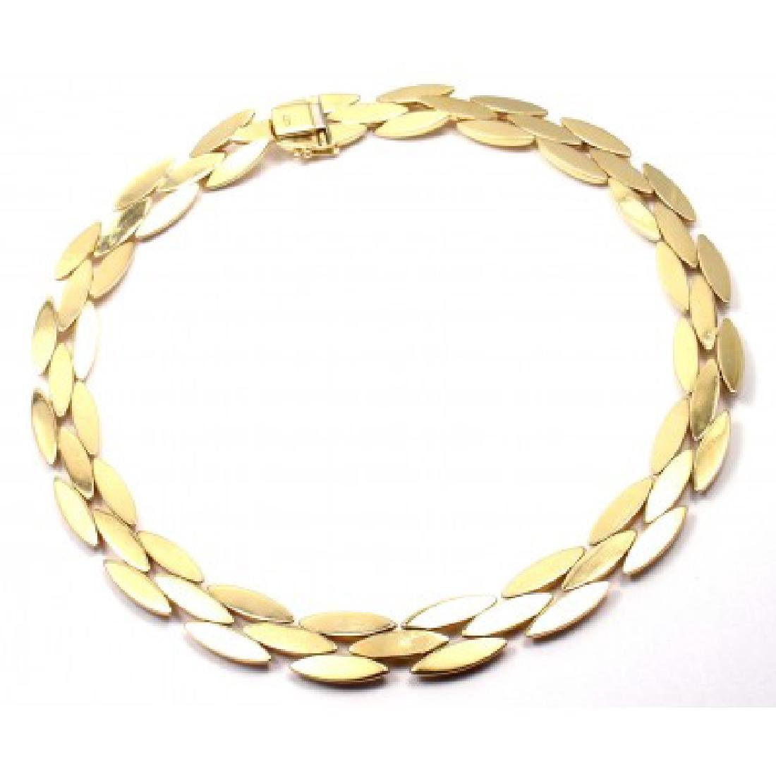 CARTIER GENTIANE 18K THREE ROW RICE LINK NECKLACE - 6