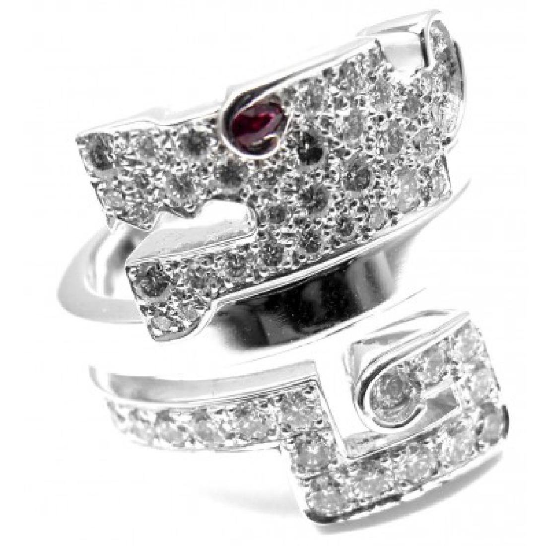 CARTIER LE BAISER DU DRAGON 18K DIAMOND RUBY RING