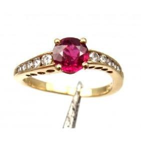 VINTAGE TIFFANY & CO. 18K  RUBY DIAMOND RING