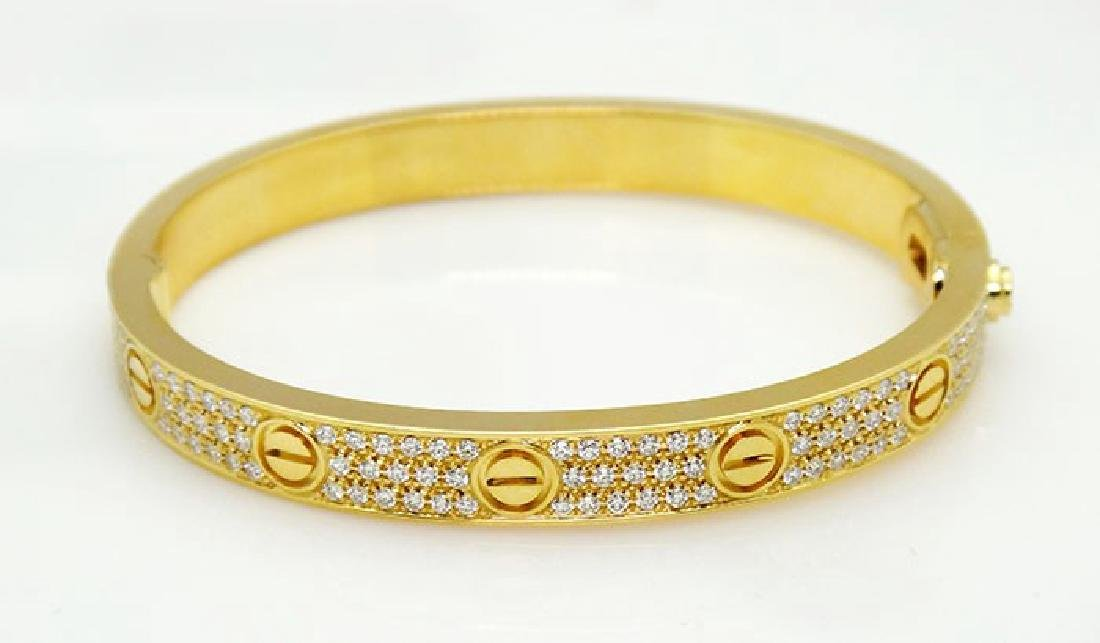 Cartier 18K  Love 2. tcw Diamond-Paved Bracelet